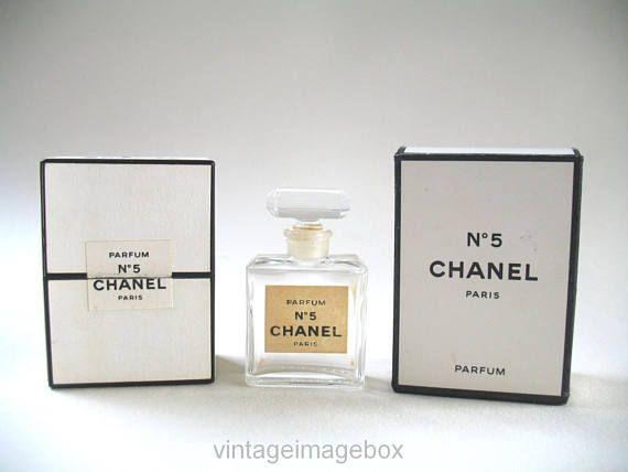 Vintage Chanel No 5 Miniature Parfum Bottle Mini Perfume Bottle And