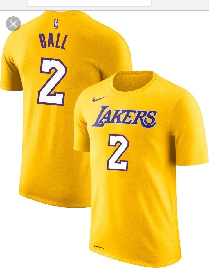168022b36ed NWT Lonzo Ball  2 Los Angeles Lakers Nike Jersey Shirt Size Youth Small 8   fashion  clothing  shoes  accessories  kidsclothingshoesaccs ...