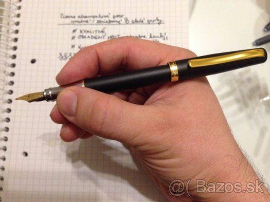 Plniace atramentové pero kovové, čierne / strieborné / zlaté - 1