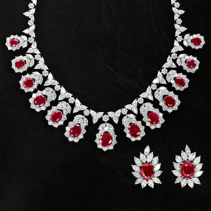 Jewellery   Chatila Diamond & Ruby Necklace & Earrings