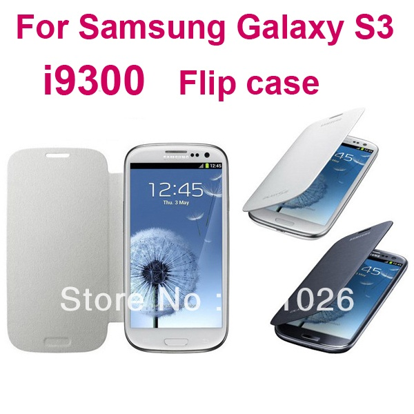 Back cover flip leather case battery housing case for Samsung Galaxy S3 i9300,1pcs/lot,free screen protector+stylue+ shipping on AliExpress.com. $4.88