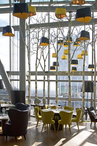 Sixty, the new restaurant on 62 floor of building in Moscow.