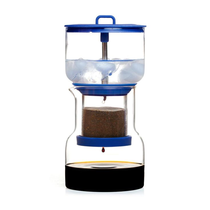 The Cold Bruer is a unique, compact, and affordable cold drip brewer. With just ice, water, and ground coffee, you can create up to 20 ounces of cold drip in only a few hours.