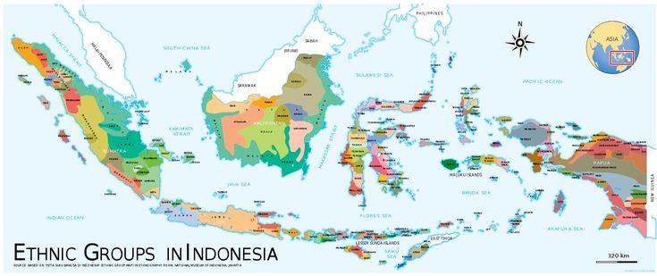 Indonesia Ethnic Groups Map