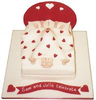 Bow Chicka Wow Wow! V-Day cake!