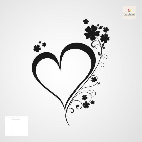 Hart met bloemen