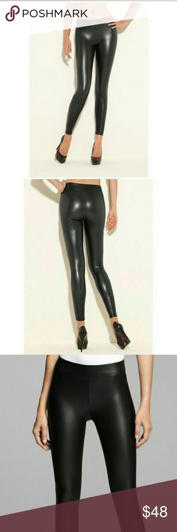Guess Matt Wet Leggings Instantly give any look a rocker edge with these smooth faux-leather leggings. They stretch and move with you, and the wide elastic waistband gives you a flattering fit. Guess Pants Leggings