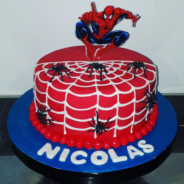 Spiderman Birthday Cake, Buttercream Cake Decorating, 5th Birthday, Cupcakes, Sweets, Candy, Desserts, Ideas, Spider Man Cakes