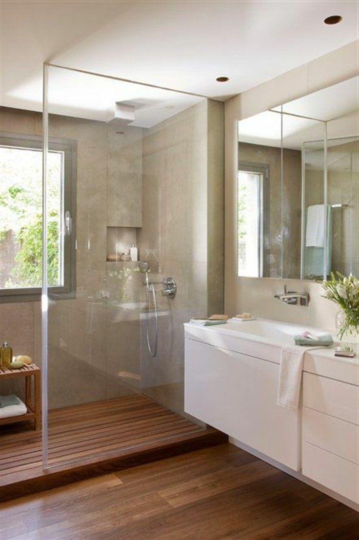 Les 25 meilleures id es de la cat gorie parquet salle de for Couleur carrelage salle de bain sans fenetre