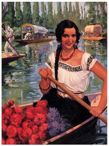 Mexican Calendar Girl Art : Best images about mexican girl art on pinterest
