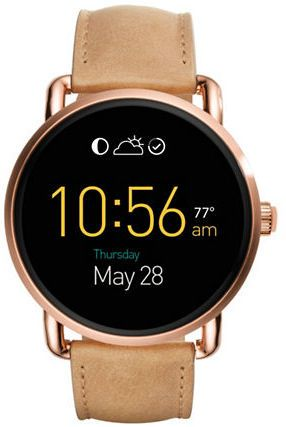 Fossil Q Wander Touchscreen Leather Strap Smartwatch