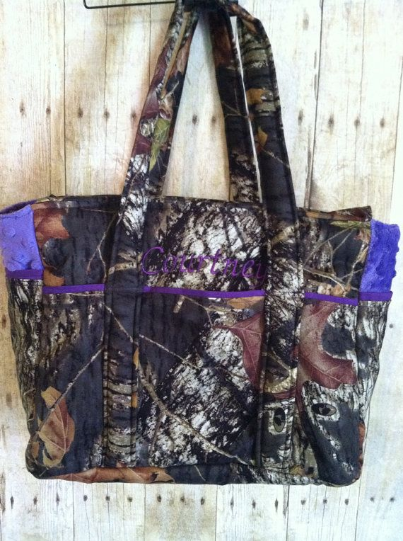 Camouflage Diaper Bag w/personalization by ChickenCoopBoutique