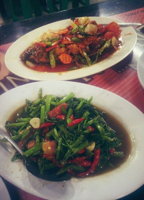 Tumis Kangkung & Gurame Asam Pedas