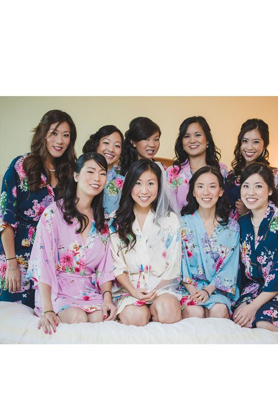 Inexpensive Bridesmaid Gifts Kimono Robe Bridal Shower Ideas Wedding For Party SJP00
