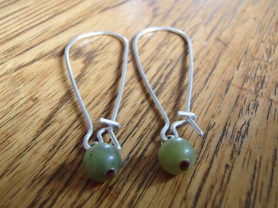Light Green Stone Earrings