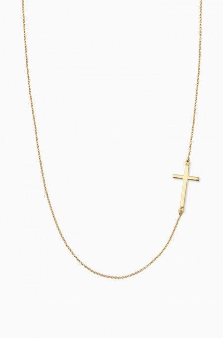 Gold Cross Chain Necklace   Gold Interlock Cross Necklace   Stella & Dot