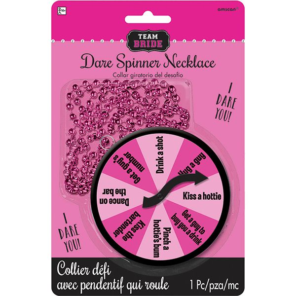 Team Bride Dare Spinner Necklace 32in 1pc | Wally's Party Factory #bachelorette #teambride #game