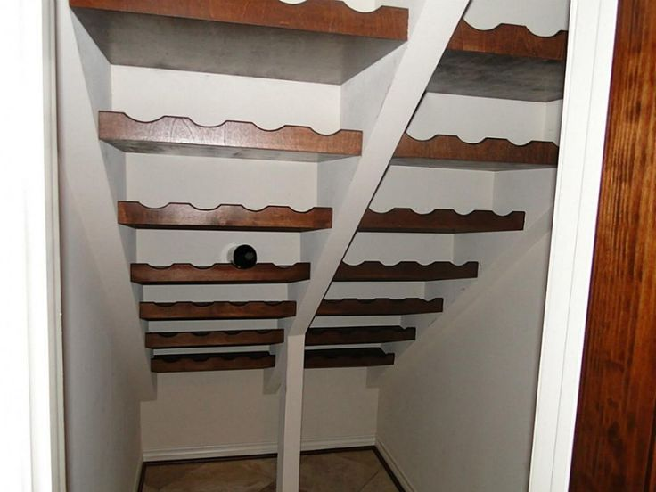 Featured cool wooden mounted wine racks storage under for Wine cellar paint colors