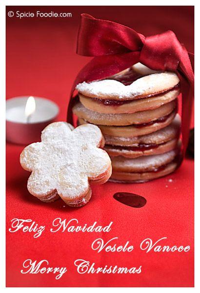 Czech Christmas Cookies; Czech Linecke Cookies; Linecka kolecka; Central European Cookies; Cookies; Christmas cookies; Spicie Foodie