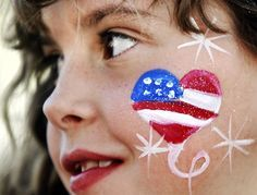 face painting fourth of july captain america - Google Search