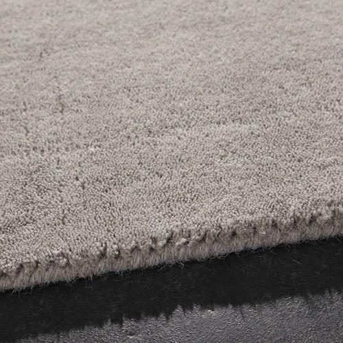 Tappeto grigio in lana a pelo corto 200 x 200 cm SOFT