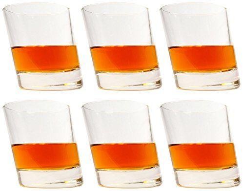 idea-station Pisa Verres à whisky 6 pièces, max. 280 ml transparent, 6 pièce unique Bourbon Tumbler Glass Set whisky tasse comme verres à…
