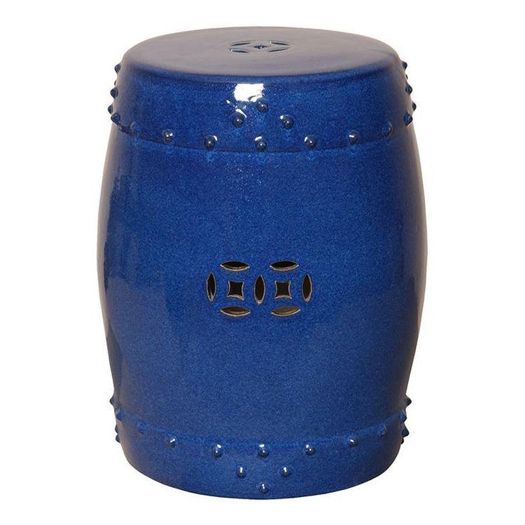 Large Drum in Blue- MrsHoward.com