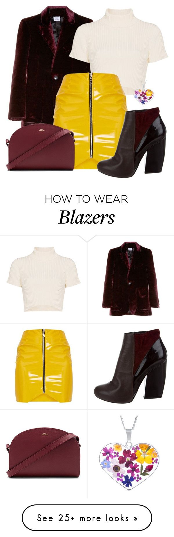 """""""Untitled #1169"""" by kaishabackwards on Polyvore featuring Vetements, Staud, A.P.C. and Pierre Hardy"""