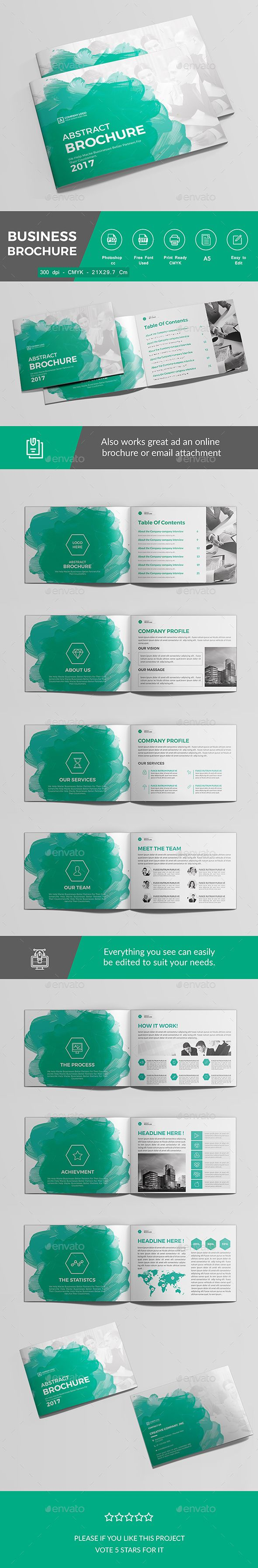 Business Brochure — Photoshop PSD #21x14.8 #identity • Download ➝ https://graphicriver.net/item/business-brochure/19036141?ref=pxcr