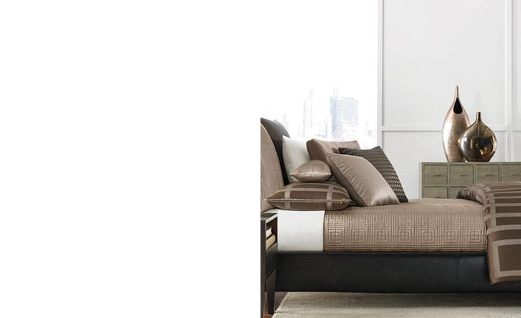 Hotel Collection Savoy Espresso Full/Queen Coverlet - Bedding Collections - Bed & Bath - Macy's