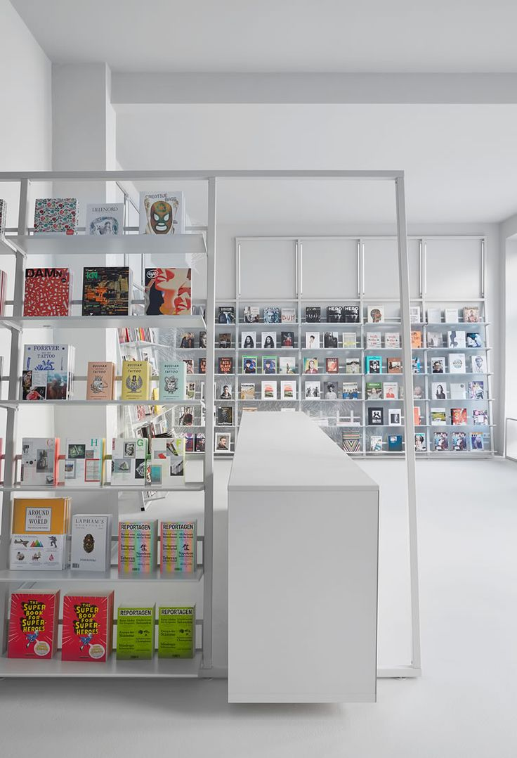 Expertly-curated Berlin indie bookshop masters maximising the minimalism of design...