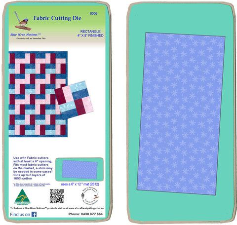 """Rectangle 4"""" x 8"""" finished - 6006 - includes cutting mat"""