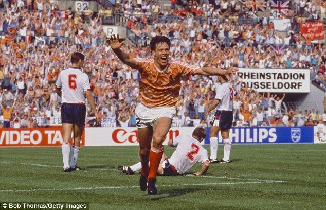 Marco van Basten was the star of the 1988 tournament as his goals propelled Netherlands to the title