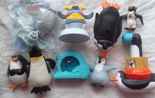 Mcdonalds Surfs Up Penguins Madagascar Happy Feet Lot 9