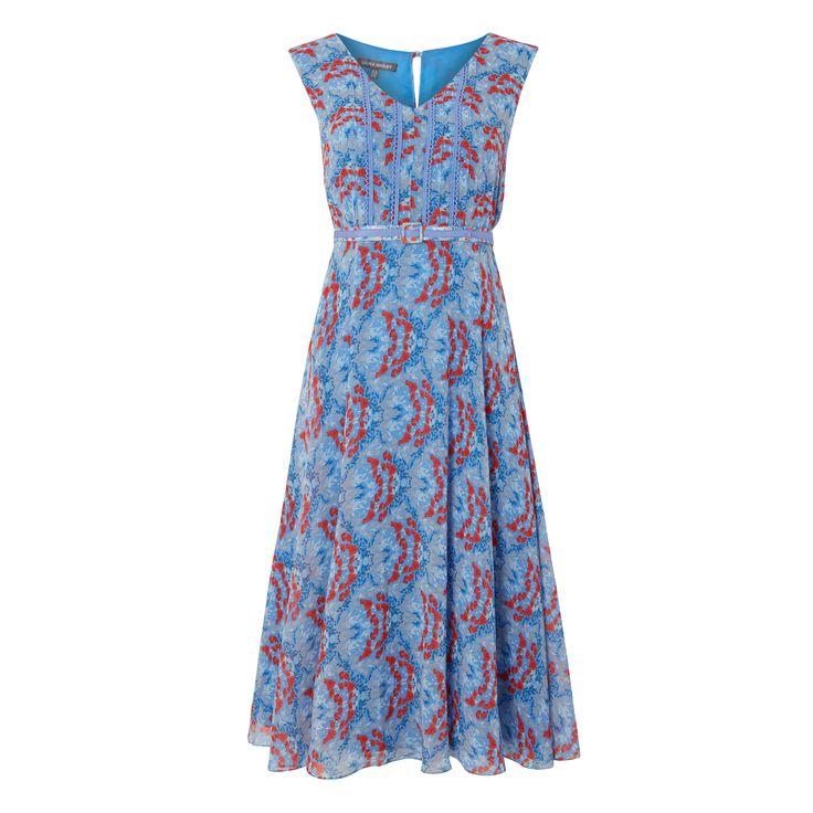 Laura Ashley Mini Poppy Floral Belted Dress #FloralBurst