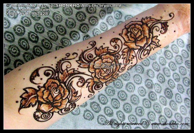 Rose Mehndi Patterns : Rose mehndi design henna designs pinterest