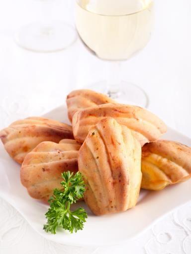 Madeleines salées au jambon en 15 minutes au four