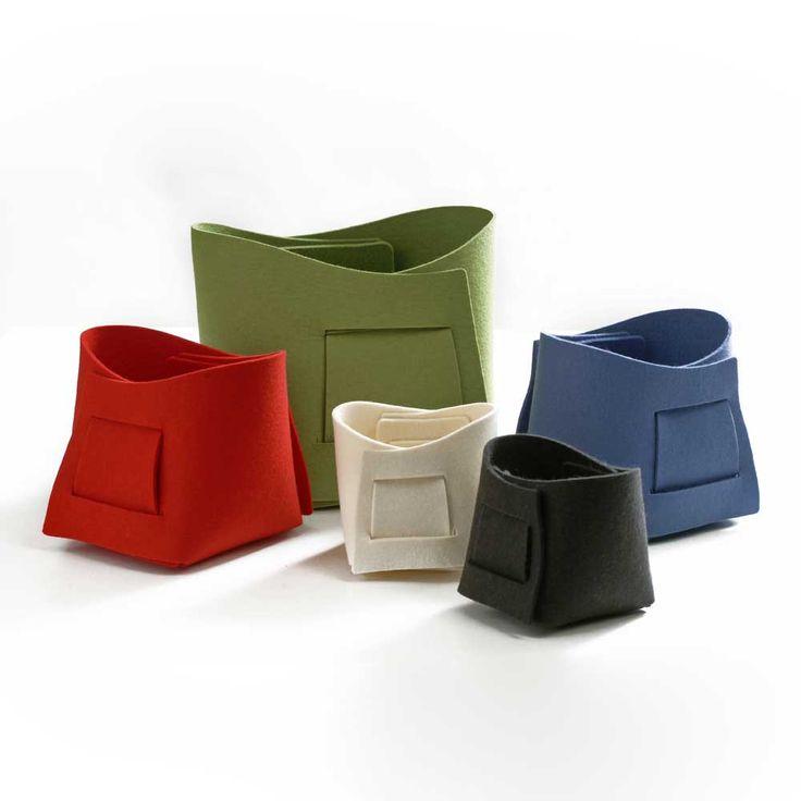 Verso Design Kori Felt Basket Collection | Storage Solutions | Finnish Design | www.homearama.co.uk | #verso #versodesign #kori #feltbaskets #storagesolutions #finnishdesign