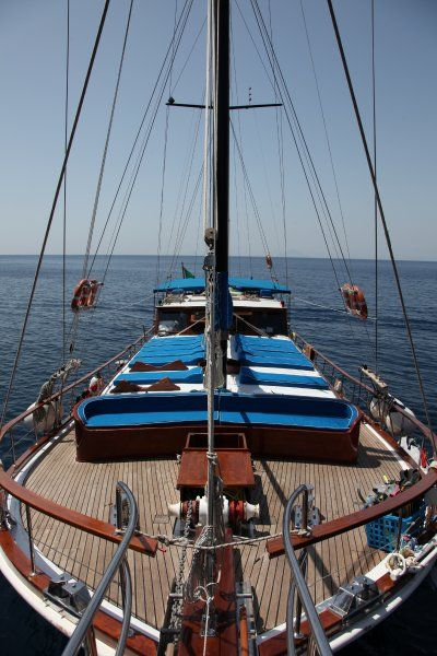 #Luxury Gullet for week to Eolian Islands #Sicily
