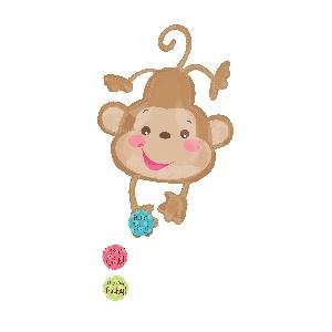 Fisher Price Baby Monkey Foil Balloon