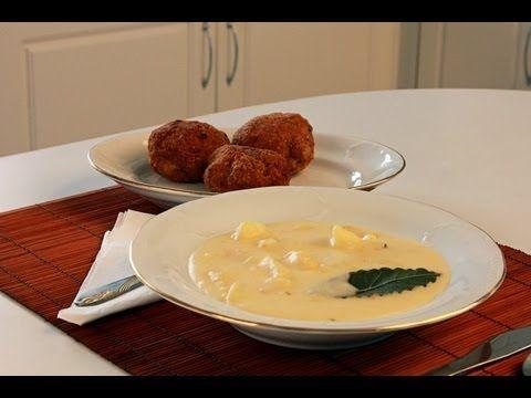 Krumplifőzelék fasírttal videó recept (Potato Dish with Meatballs) - YouTube