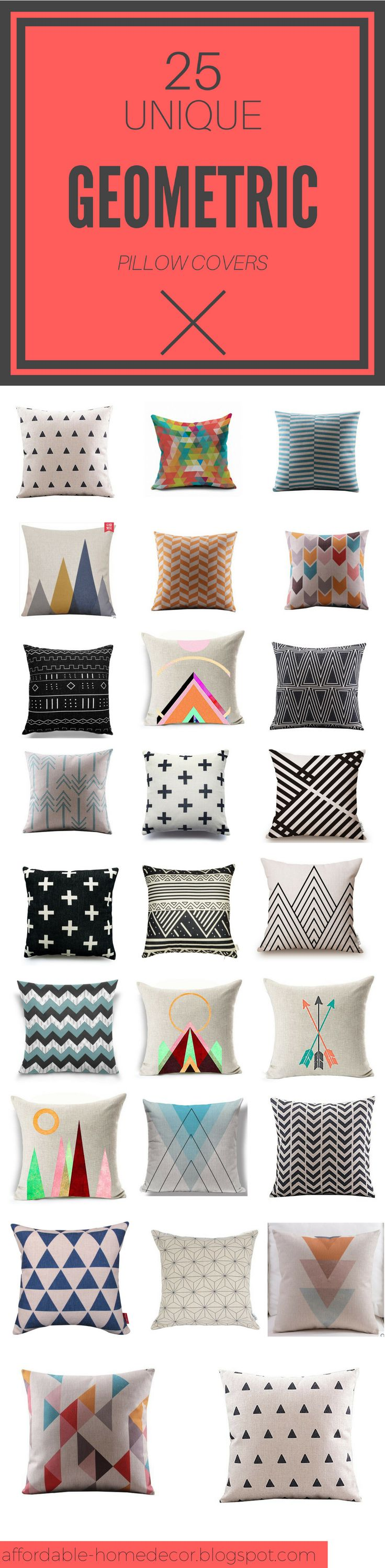 Are you looking for some modern pillow cover? I believe that you find the right one for your place in this list of 25 cheap 18 x 18 inches pillow covers with geometric pattern!