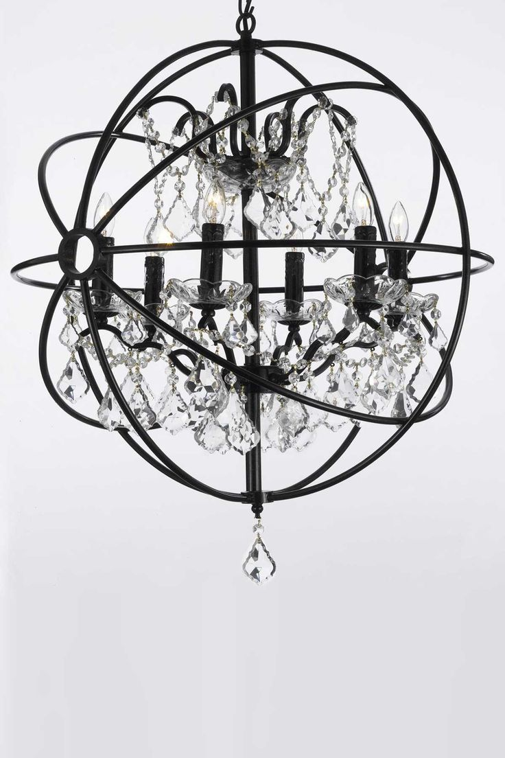 221 best lighting images on pinterest chandelier chandeliers gallery foucaults orb crystal iron 6 light chandelier overstock shopping great deals on gallery chandeliers pendants arubaitofo Choice Image