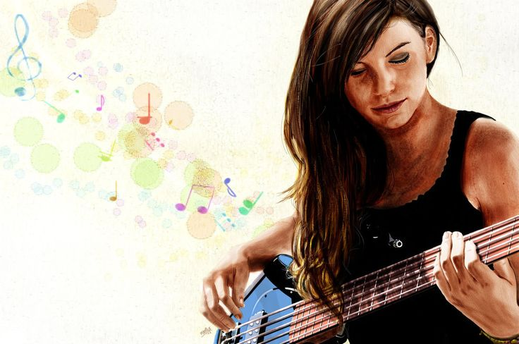 Marta and her bass by M4TiKo on DeviantArt