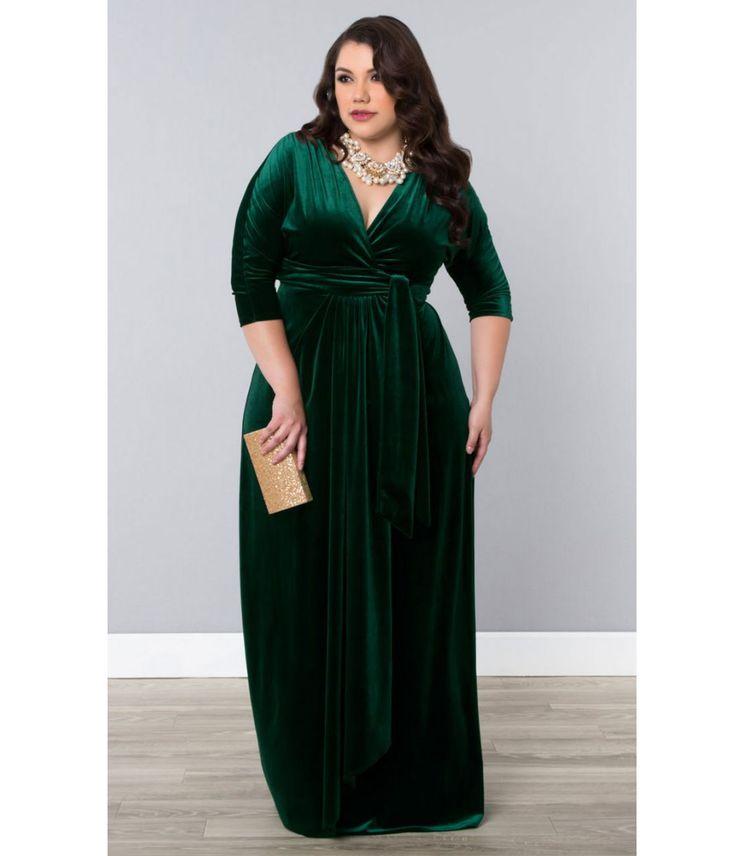 Plus velvet dress outfits