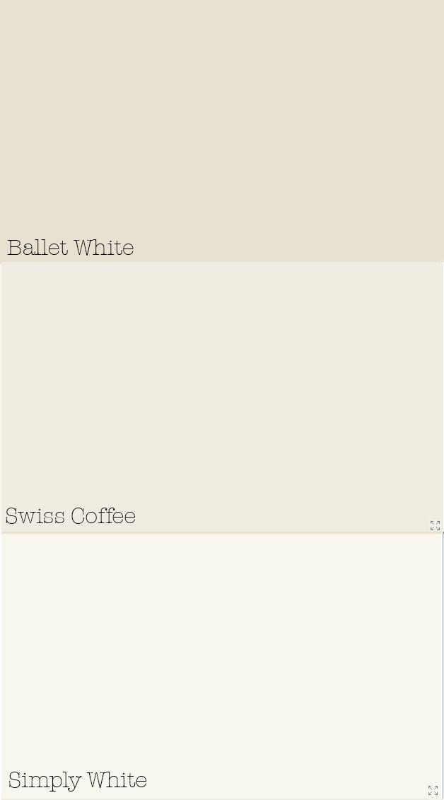 Benjamin Moore paint colors Swiss Coffee