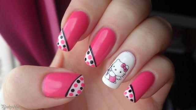 hello kitty #nail #nails #nailart