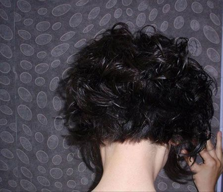 Thirty Ideal Brief Curly Hairstyles 2013 – 2014 Dark Spiked Short Curly Hair Read more http://www.heygirl.net/women-hairstyles/thirty-ideal-brief-curly-hairstyles-2013-2014/