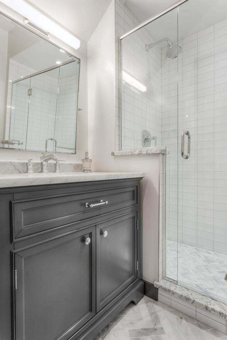 Sleek Bathroom Design Modern Sleek Bathroom Design With Grey Tile Details  Opusad