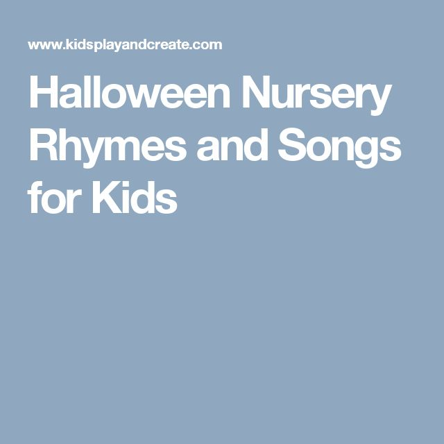 Halloween Nursery Rhymes and Songs for Kids